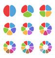 circle segment set vector image vector image