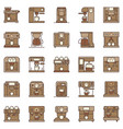 coffee machine creative icons set coffeemakers vector image