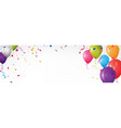 colorful birthday banner with bunting flags vector image vector image