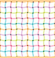 colorful seamless grid pattern - cloth design vector image vector image
