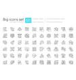 communication skills linear icons set vector image