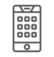 dial number on phone line icon mobile and call vector image vector image