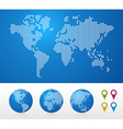 Dotted World maps and globes vector image vector image