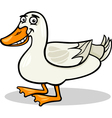 Duck farm bird animal cartoon vector | Price: 1 Credit (USD $1)