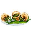 escargot a delicious french dish snails vector image vector image