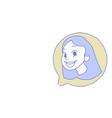 female head chat bubble profile icon woman avatar vector image