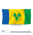 Flag of Saint Vincent and Grenadines vector image vector image