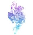 flamingo tattoo tropical animal bird summer vector image