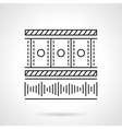 Flat line media player icon vector image