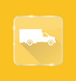 flat style truck silhouette icon vector image vector image