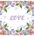 floral card acceptance with love vector image vector image
