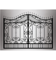 Forged gate with sharp spikes vector image vector image