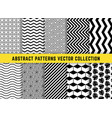 geometric minimalistic patterns set vector image