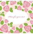 greeting floral roses card vector image vector image