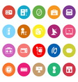 House related flat icons on white background vector image vector image