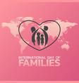 international day families logo icon design vector image vector image