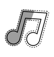 Isolated music note vector image vector image
