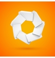 Join white shiny glossy plastic cubes vector image vector image