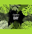 landscape frame tropical leaves vector image vector image