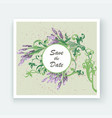 lavender floral pattern cover design hand drawn vector image