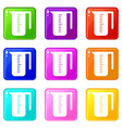 measuring cup icons 9 set vector image vector image