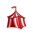 Medieval knight tent icon cartoon style vector image vector image
