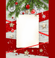 merry white card vector image vector image