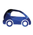 mini car icon Abstract Triangle vector image vector image