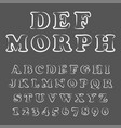 modern playful font and alphabet vector image