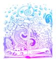 Open book sketchy doodles vector image vector image
