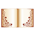 open book with floral ornate vector image