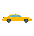 passenger car to work in a taxi icon flat isolated vector image vector image