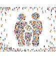 people family sign happy group life vector image