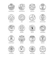 project management line icons vector image vector image
