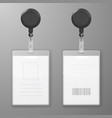 realistic blank office graphic id cards vector image