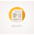 Receipt Icon The bill with total cost vector image vector image