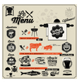 Retro vintage style restaurant menu designs