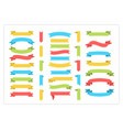 ribbon template banner color collection vector image vector image