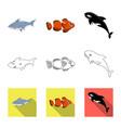 sea and animal symbol vector image vector image