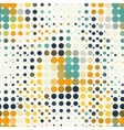 seamless geometric pattern of halftone dots vector image vector image