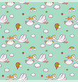 seamless pattern with cute storks carrying the vector image vector image