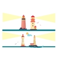 set lighthouses cartoon lighthouse vector image vector image