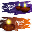 set lights candles decoration to diwali festival vector image vector image