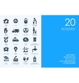 Set of BLUE HAMSTER Library ecology icons