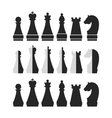 set of chess vector image vector image
