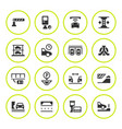 set round icons parking vector image