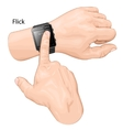 Smart watch gesture Gesture flick vector image vector image