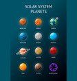 solar system planets with names vector image