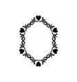 vintage romance border frame decoration romantic vector image vector image