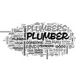 where to find a local list of plumbers text word vector image vector image